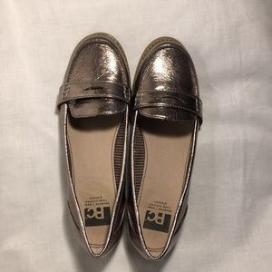 Bronze Metallic LOAFERS Sz 8.5